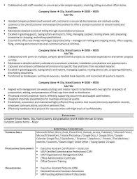 Executive Secretary Resume Examples Beauteous Office Administrator Resume Sample New Executive Assistant Resumes