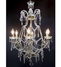 pristine crystal drop 6 light with murano glass chandelier