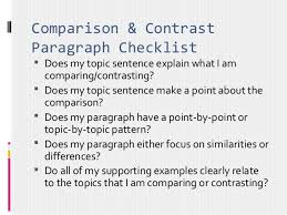 Essay Of Comparison And Contrast Examples Comparison Contrast Essay Point Point Organization