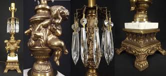 antique cherub marble prism table lamp vintage solid brass hollywood regency