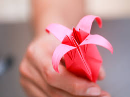 How To Make Origami Paper Flower How To Fold An Origami Lily With Pictures Wikihow