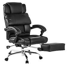 btm luxury high back executive faux leather office chair swivel recliner and footstool computer boss chair chesterfield presidents leather office chair amazoncouk