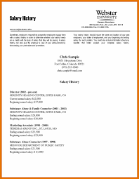 9 Resume With Salary Requirements Example Budget Reporting