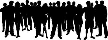 group of people clipart black and white. Simple People In Group Of People Clipart Black And White O