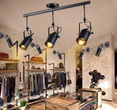 industrial track lighting. 2018 Industrial Track Lighting Retro Loft Vintage LED Light Ceiling Lamp Bar Clothing Personality R