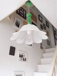vintage farmhouse lighting. Pendant Light Wrought Iron Fixture, White Glass Lamp Shade, Upcycled Hanging Annie Sloan Antibes Green, Vintage Farmhouse Lighting By T
