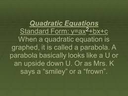 3 quadratic equations