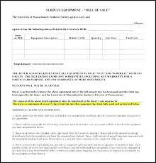 Bill Of Sale Form Unique 7 Sample Equipment Forms Mass Rmv Template ...