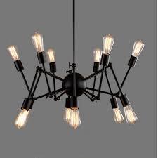 vintage wrought iron warehouse e27 chandelier for dining room restaurant decoration light fixture luxury large pendant