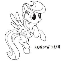 Small Picture My Little Pony Rainbow Dash Coloring Pages Miakenasnet