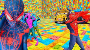 Phim hoạt hình 7 anh em siêu nhân nhện đua xe ô tô - nhạc thiếu nhi vui nhộn
