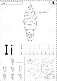 The phonetic alphabet is the list of symbols or codes that shows what a speech sound or letter. Cartoon Ice Cream And Igloo Alphabet Tracing Worksheet Writing Royalty Free Cliparts Vectors And Stock Illustration Image 51884340