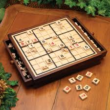 Wooden Sudoku Game Board Amazon Bits and Pieces Deluxe Wooden Sudoku Game Board 6