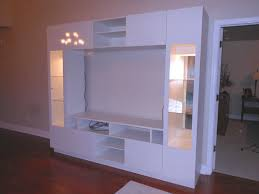 white custom wall units