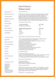 Waitressing Resume 12 13 Waitressing Resume Templates Loginnelkriver Com