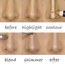 how to contour your nose to make it look smaller makeup mania