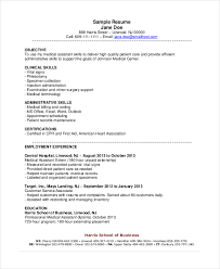 Medical Assistant Resume Objective Photo Gallery Website Resume