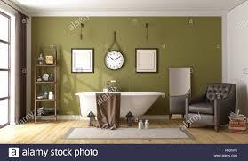 Sicherheit Retro Badezimmer Vintage Alte Mit Modernen