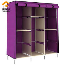 furniture for hanging clothes. large capacity wardrobe 5 hanging rods cloth zipper bedroom furniture clothes home for