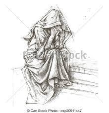 Angel Sketch Cemetery Angel