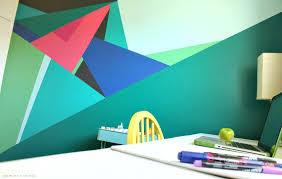 create your own diy geometric wall mural