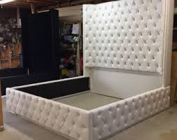 king size tufted headboard tufted bed etsy