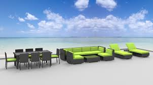 modern wicker patio furniture. Gray Series - 19 Pc Ultra Modern Wicker Patio Set Furniture D