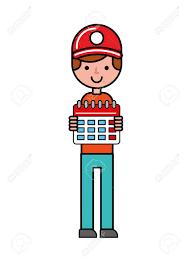 Online Planning Calendar Operator Holding Calendar Planning Online Shopping Logistic Vector
