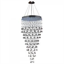 icicle collection 12 light chrome finish and clear crystal chandelier 28 d x 36 h