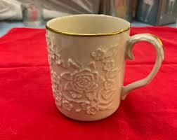 Lenox french perle white trellis coffee mug 12 oz. Lenox Coffee Mug Etsy