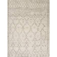 jaipur living zuri 9 x 12 hand knotted wool rug in ivory and gray rug112358