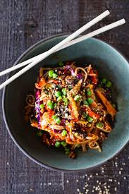 Spicy peanut noodles full of healthy veggies and crunchy peanuts tossed in an addicting homemade peanut sauce. Kimchi Noodles Feasting At Home