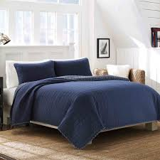 blue cotton quilt. Delighful Blue Nautica Maywood Navy Reversible Cotton Quilt Set For Blue