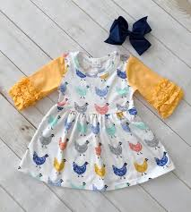 Rylee Faith Designs Limited Edition Barnyard Chicken Dress Products Dresses