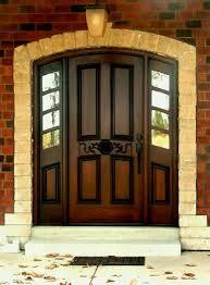 chocolate wooden door with black handle ideas wood glass design home interior