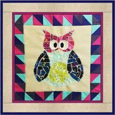 Ticker Tape Owl Quilt Block | FaveQuilts.com &  Adamdwight.com