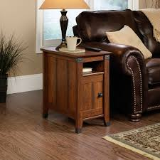 Narrow Armchair Furniture Narros End Table With Wooden End Table And Leather