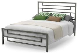 Temple Metal Bed Modern Platform Beds by Amisco Industries Ltd