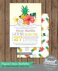 Tropical Party Invitations Tropical Party Invitations Themed Hawaiian Birthday Relod Pro