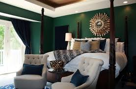 emerald green bedroom. Interesting Green Emerald Wall Bedroom Transitional With Navy Lattice Pattern Rug In Master  Traditional Side Tables And End On Emerald Green Bedroom S