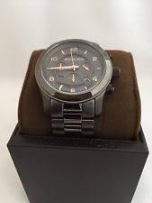 michael kors chronograph black gunmetal mens watch mk8347 nwt michael kors chronograph black gunmetal mens watch mk8347