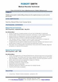 Sample Of Medical Records Medical Records Technician Resume Samples Qwikresume
