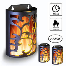 Outdoor Wall Light Timer Wralwayslx Decorative Lanterns With Timer Candle Light Flameless Candles Indoor Outdoor Wall Sconces Flickering Flames Wall Light For Hallway
