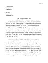 Doc Letter From A Birmingham Jail Essay Michael Asher