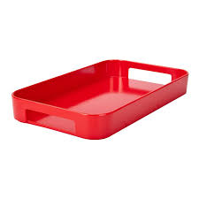 Skinny Gallery Serving Tray - Red