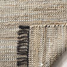 safavieh vintage 2 3 x 4 hand woven leather rug in beige 4 4 of 6