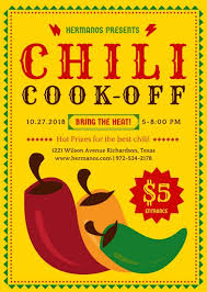 chili supper flyer chili cook off event flyer templates by canva