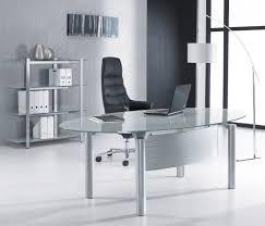 oval glass computer desk