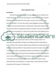 movie application paper the kingss speech essay movie application paper the kingss speech essay example