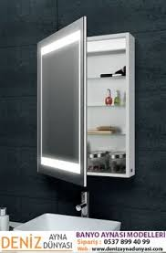 modern bathroom mirrors with lights. Laura Aluminium Backlit Mirrored Bathroom Cabinet Made From Anti-rust The Is Ideal For Environment Offering Modern Mirrors With Lights R